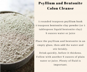 bentonite clay colon cleanse