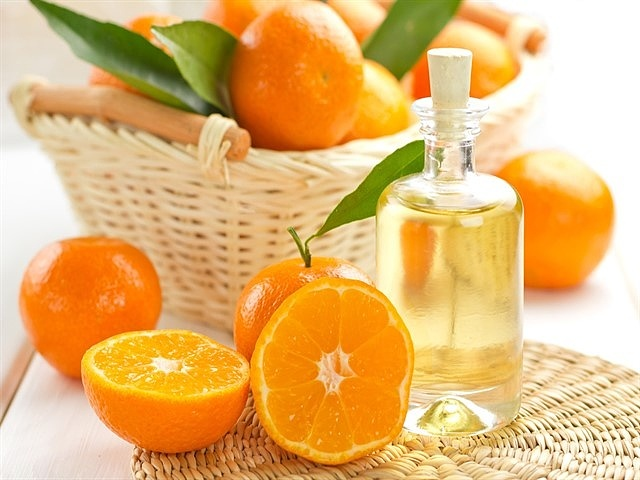 Orange essential oil makes DIY sleep pillow spray great