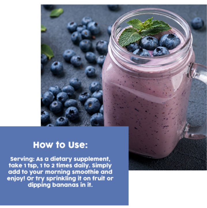 blueberry superfood powder